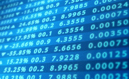 Экран данным по фондовой биржи Стоковое Изображение RF