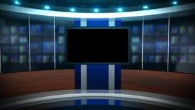 Экран вечерних новостей иллюстрация штока