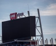 Экран гиганта стадиона Левия Стоковая Фотография