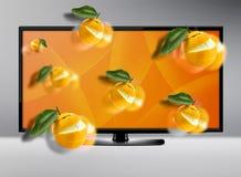 Экран ЖК-телевизора Стоковые Фотографии RF