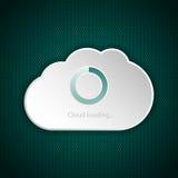 Экран загрузки интерфейса облака иллюстрация вектора