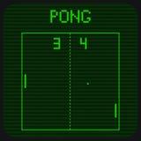 Экран зеленого цвета Pong Стоковое Фото
