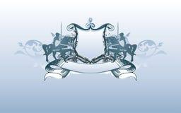 экран знамени heraldic Стоковые Изображения