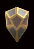 Экран золота на черной предпосылке иллюстрация вектора