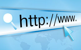 экран интернета компьютера адреса стоковое фото