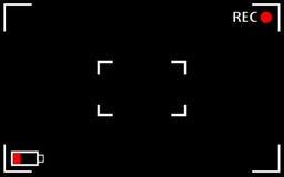 Экран камеры фокусируя Стоковое Изображение RF