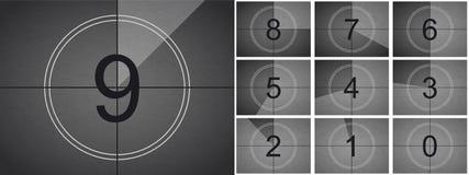 Экран кино вектора комплекса предпусковых операций кино ретро иллюстрация вектора