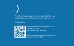Экран компьютера голубой смерти Стоковые Фотографии RF