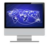 Экран компьютера изолированный на белой предпосылке Стоковые Изображения RF