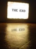 экран конца Стоковые Фотографии RF