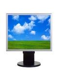 экран ландшафта компьютера стоковое фото rf