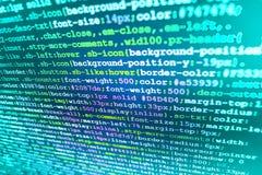 Экран места для работы разработчика программного обеспечения Стоковые Изображения RF