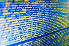 Экран места для работы разработчика программного обеспечения Стоковые Фото