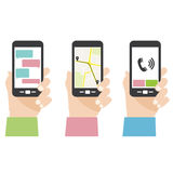 Экран мобильного телефона Стоковое Изображение RF