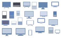 Экран монитора и передвижной комплект значка Стоковая Фотография RF