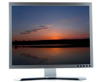 экран настольного компьютера компьютера Стоковое Изображение