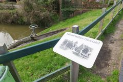 Экран на историческом Greetsiel водой Стоковое Фото