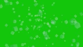Экран оживленных кубов зеленый видеоматериал