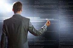 экран принципиальной схемы компьютера облака вычисляя emty Стоковое фото RF
