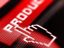 экран продуктов Стоковые Фотографии RF