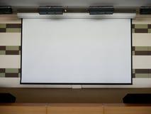 Экран проекции на этапе Стоковые Изображения RF