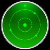 экран радара иллюстрация вектора