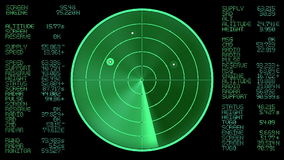 Экран радара (безшовная петля) акции видеоматериалы