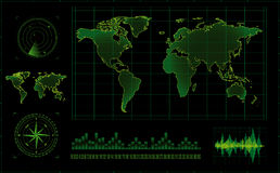 экран радара Стоковые Фотографии RF