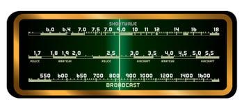 Экран радио клапана Стоковое Фото