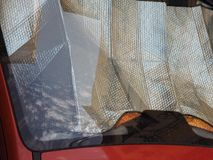 экран солнца автомобиля Стоковая Фотография RF