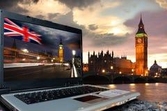 экран тетради ben большой london Стоковое фото RF