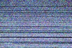 Экран телевизора с статическим шумом стоковое изображение rf
