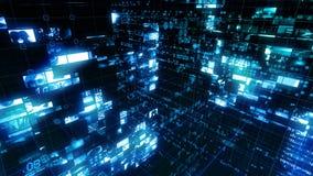 Экран цифров данным по компьютера интерфейса технологии видеоматериал