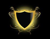 экран черного золота Стоковое Фото