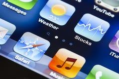 Экран Iphone стоковое изображение rf