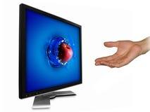экран lcd яблока Стоковое фото RF