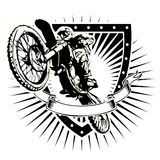 Экран Motocross Стоковое Фото