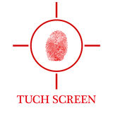 Экран Tuch Стоковое фото RF