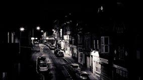 Эксетер, южная улица на ноче акции видеоматериалы