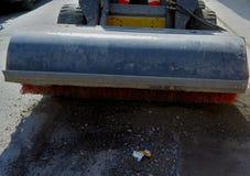 Экскаватор приложений метельщика мини стоковая фотография rf