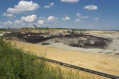 Экскаватор шахты - машина добычи угля стоковое изображение