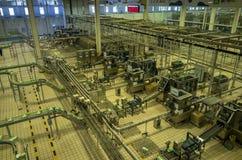 Экскурсионный тур фабрики участка 6 молочной промышленности Mengniu стоковые изображения