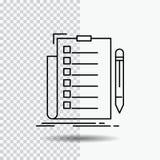 экспертиза, контрольный списоок, проверка, список, линия значок документа на прозрачной предпосылке r бесплатная иллюстрация