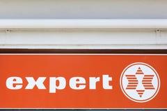 Экспертный логотип на стене Стоковые Фотографии RF