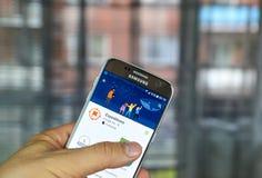 Экспедиции app Google стоковое фото rf