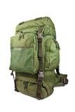 Экспедиционный воинский рюкзак изолированный на белой предпосылке Стоковые Изображения
