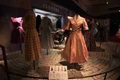 Экспозиция винтажных платьев Стоковое Изображение RF