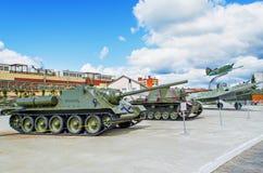 Экспозиция воинского оборудования Стоковые Изображения RF