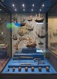 Экспонаты на музее interoceanic канала в Панама (город) стоковое фото