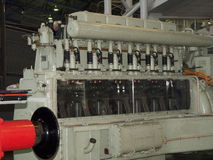 Экспонат двигателя Deisel в национальном железнодорожном музее в Йорке, Йоркшире Англии Стоковое Фото